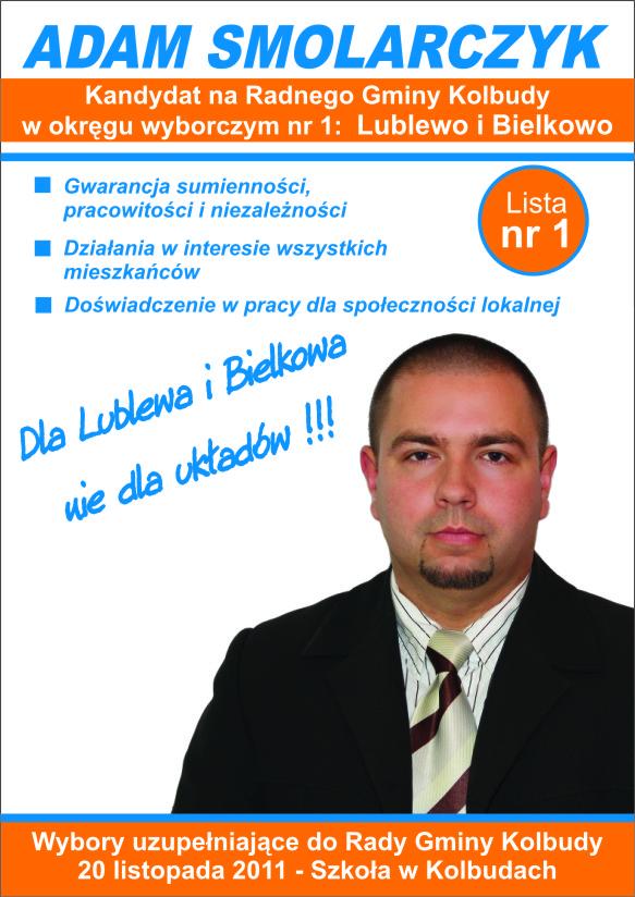 Kandydat Na Radnego Gminy Kolbudy Adam Smolarczyk